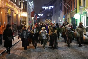 Latvian Christmas. Log Night in Old Riga